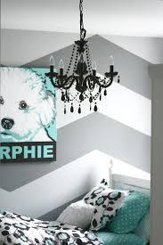 chevron stripe wall decal bedroom decor horizontal black and white