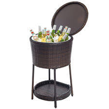 Patio Table Beer Cooler Outdoor Beverage Cooler Bucket Ice Chest Bar Pub Patio Cocktail