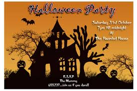 Poem About Halloween Free Halloween Birthday Invitations Template