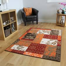 Living Room Carpet Rugs Orange Modern Patchwork Rugs Small Large Living Room Carpet Rugs