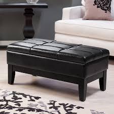leather rectangular ottoman ideas trendy leather rectangular