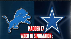 Dallas Cowboys Flags And Banners Madden 17 Week 16 Detroit Lions Vs Dallas Cowboys Lions
