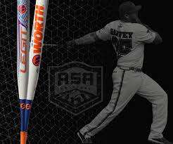 worth legit slowpitch softball bat worth sports
