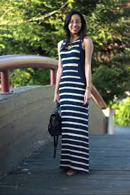 weekend wear stripe paneled maxi dress for a carefree and