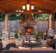 Outdoor Covered Patio Design Ideas Sensational Design Ideas Outdoor Living Spaces With Fireplace