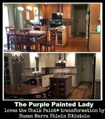 Chalk Paint On Kitchen Cabinets by Vanity The Purple Painted Lady
