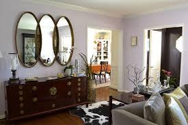 cowhide rug living room ideas 3 panel wall mirror for small living room with cowhide rug and solid