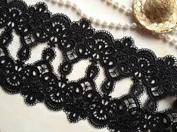 black lace trim black lace trim retro venice lace black embroidery lace trim 2 55