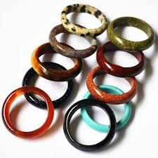 stone wedding rings images Top quality agate opal tiger eye fashion mix color natural stone jpeg
