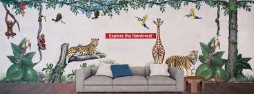 Rainforest Wall Stickers Hand Painted Wall Decals For Kids Of All Ages Incredible Detail