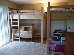 Crib Loft Bed Loft Bunk Bed Crib Small Space Solution To Lots Of