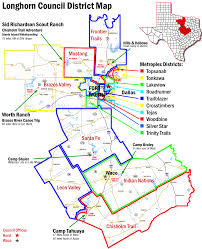 Map Of Dallas Fort Worth Airport by District Map Longhorn Council Home Of The Texas High Adventure