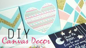 Easy Ways To Decorate Your Bedroom For Christmas Diy 5 Easy Canvas Decor U0026 Gift Ideas Youtube