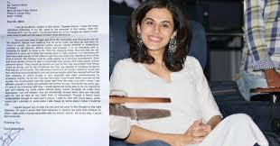 taapsee pannu wrote a letter to her principal u0026 it u0027s so