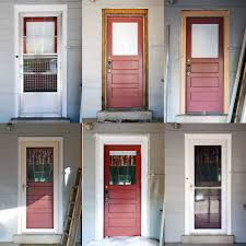 Images Of Storm Doors by Back Door Storm Door Replacement Before And After Flickr