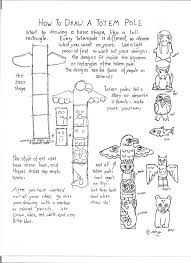 how to draw a totem pole printable worksheet crafts cross