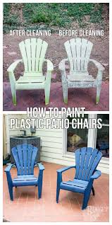 Paint For Outdoor Plastic Furniture by How To Paint Plastic Patio Chairs Tastefully Eclectic