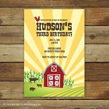 graphic design birthday invitations farm birthday invitations plumegiant com