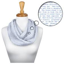 D And G Light Blue Litographs The Odyssey Book Scarf