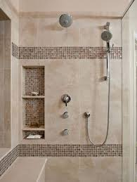 bathroom tiled showers ideas details photo features castle rock 10 x 14 wall tile with glass