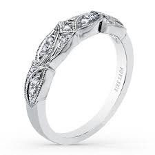 kirk kara wedding band kirk kara dahlia diamond leaf style wedding band 0 10 carats diamonds