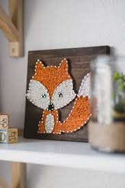 string art woodland fox creature purchased from etsy from our