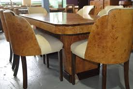 art deco cloudback dining table and 6 chairs cloud 9 art deco