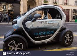 twizy renault paris a renault twizy electric car quadricycle stock photo