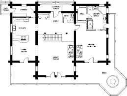 Free Log Home Floor Plans Main Level 1 821 Square Feet Houses And Plans Log Lodge