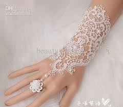 bridal bracelet with ring images Elegant lace pearl wedding party prom jewelry bracelet with ring jpg