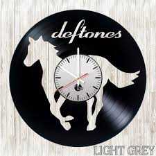 deftones vinyl record wall clock superb decor idea vinyl clocks