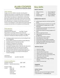 example resume for administrative position administrative