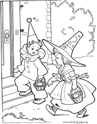 kids going to halloween party coloring page coloring pages of