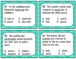 clues task cards with academic testing vocabulary staar aligned