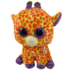 ty beanie boos darci orange u0026 yellow giraffe glitter eyes