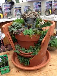 images about fairy garden broken pot style with decoration for