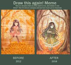 Old Painting Meme - draw this again meme autumn by mimichair on deviantart
