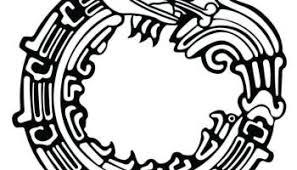 tribal aztec eagle stencil design truetattoos