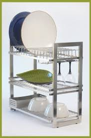 Tiers Stainless Steel Kitchen Dish Drying RackStainless Steel - Stainless steel kitchen storage cabinets