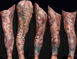 and amaizing tiger on leg tattoomagz