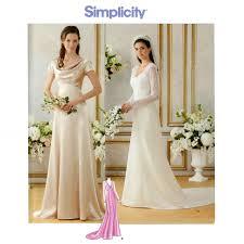 wedding dress patterns to sew wedding dress pattern bust 36 44 simplicity 1909