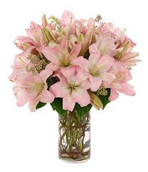 bouquet of lilies stunning pink lilies at from you flowers