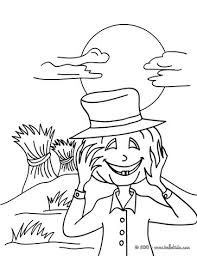 haunted scarecrow coloring pages hellokids