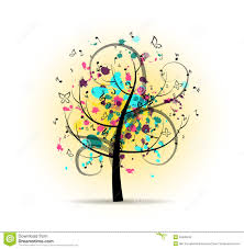 abstract colorful musical tree stock vector image 50409249