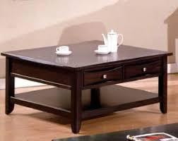 espresso square coffee table 40 baldwin espresso square coffee table w storage drawers