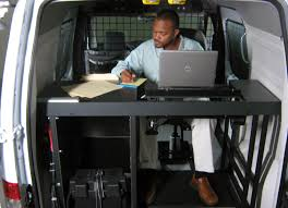 Auto Laptop Desk by Mobile Office Installed In A Ford Transit Connect Goergo Com Pi