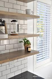 affordable diy large floating shelves kitchen open shelves