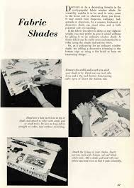 Make Your Own Roller Blinds 1959 Instructions To Make Your Own Fabric Roller Shades Retro