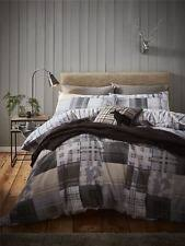 Flannelette Single Duvet Cover Catherine Lansfield Grey Woodland Animals 100 Brushed Cotton