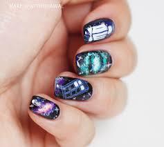 tardis in space nails makeup withdrawal